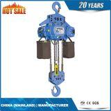 Электрическая таль с цепью с подвесом крюка