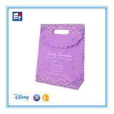 Papel de alta Quility personalizada del bolso de mano para ir de compras y regalo