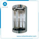 Piccolo elevatore di osservazione di caricamento costato con vetro facente un giro turistico pieno