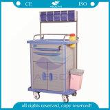 Carro da anestesia do hospital dos troles do ABS da medicamentação AG-At001A3