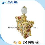 Bottiglia di profumo di cristallo del bello del metallo 12ml della farfalla taglio di vetro dell'oggetto d'antiquariato (MPB-28)