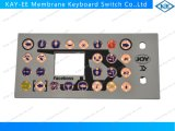 Contrôle de clavier numérique de membrane de DEL avec des boutons en caoutchouc de résine