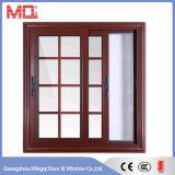 Окно высокого качества алюминиевое с решеткой