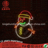 Le bonhomme de neige neuf de modèle de Noël de DEL allume extérieur imperméable à l'eau de la lumière 30*30cm de corde de Noël de lumière de motif le 2D