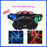 Quad CREE LED 9pcs*10W moviendo la cabeza de la luz de Club