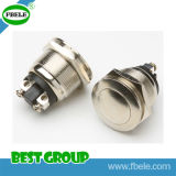 Accrochage Bouton poussoir 19mm Bouton poussoir Switch Commutateur Terminal Pin Push Button Switch (FBELE)