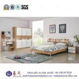 カスタマイズされた木のベッドの経済的なホテルの寝室の家具(SH-009#)