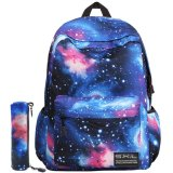 Unisex Galaxy School Mochila Poliéster Laptop Computer Hiking Bag