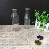frasco de vidro redondo do suco de fruta da alta qualidade 300ml com torção do metal fora do tampão