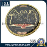 Pièce de monnaie en métal de bord de coupure de diamant de qualité
