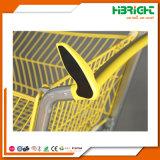 Carrinhos de compras de carrinho de mão de supermercado de metal com spray de plástico