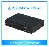 공기 디지털 새로운 인공 위성 수신 장치 Zgemma H5. AC 이중 코어 리눅스 OS Enigma2 DVB-S+ATSC H. 265 미국 멕시코를 위한 2개의 조율사