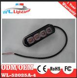 Luz de estorvo intermitente de 4 LED para a polícia