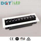 LED de alta potencia interior foco empotrado utilizando con fines comerciales.