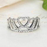 100% un diadema dei 925 cuori dell'argento sterlina, anello di barretta libero delle donne della CZ compatibile con l'anello di umore originale dei monili