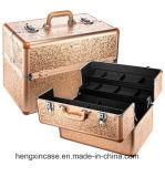 تلألؤ & لمس نوع ذهب تلألؤ [إكسل] بنية قافلة تموين منظّم حالة مستحضر تجميل حقيبة