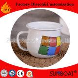 Sunboat personalizado Logotipo de logotipo de impressão Copo de esmalte Uso diário Utensílios de cozinha Utensílios de mesa