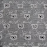 Tejido de algodón ---Pequeño bordado de flores