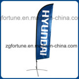 Customized Beachflag Outdoor Teardrop Publicité Sail Banner Flag