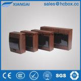 Caja de distribución de plástico de color madera marrón Color de la caja de distribución nuevo cuadro de tsm