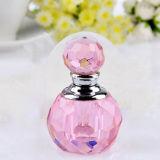 Fabricante de cristal rosado cristalino pequeño y encantador de la botella de perfume (KS24065)