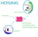 UE de 5V 1A nous mini USB couleur d'OEM de chargeur de fiche de mur du chargeur BRITANNIQUE pour iPhone/Huawei/Samsung