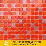 Mosaico de cristal 4mm para la Piscina en rojo