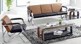 シンプルな設計の良質のオフィスのソファーの在庫1+1+3の公共の椅子のスポンジのソファーA06#