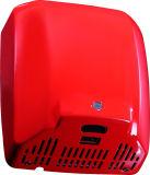 Secador automático da mão do indicador do diodo emissor de luz da escova de carbono do aço inoxidável para o banheiro