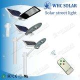 Whc New Design 30W imperméable à l'eau tout en un solaire LED Street Light
