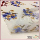 Tessuto 100% del poliestere del reticolo di fiore della stampa di restringimento del sale