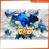 Kungfuのパンダおよびキリンの漫画のResonableの価格3Dの油絵