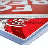 La parete gemellare bianca dei pp ha ondulato lo strato di plastica/strato di Correx Coroplast Corflute con stampa trattata corona 4mm 1200*2400mm