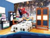 Mejora de la casa de Protección Ambiental de materiales de los niños de papel tapiz de dibujos animados