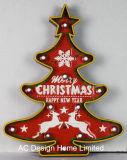 포도 수확 훈장 앙티크 금속과 플라스틱 프레임 벽 장식 크리스마스 나무 W/LED 빛