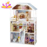 Bella principessa Wooden Dollhouse di nuovo disegno per i bambini W06A218