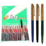 Ball Point Pen Herb 330 com Capa de metal dourado