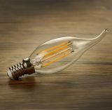 A vela 4W do filamento do diodo emissor de luz de E14 E27 aquece a lâmpada branca do diodo emissor de luz da vela