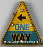 """포도 수확 훈장 앙티크는 """"1가지의 방법"""" 디자인 금속과 플라스틱 프레임 벽 장식 W/LED 빛을 돋을새김한다"""
