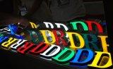 플라스틱 알파벳은 관례 3D LED 표시를 써 넣는다