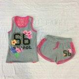 Vêtements d'enfants de fleur dans le procès de gosses avec l'impression en bref Sq-6674