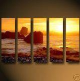 現代抽象的なオイルの一定の絵画- Sunglow 3