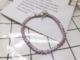 여자를 위한 도매 고전적인 분홍색 다이아몬드 구리 팔찌