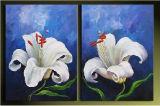 Huile sur toile abstraite (0121)