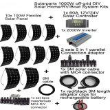 controlemechanisme van het Zonnepaneel van de Uitrustingen 1000W van het van-net het Universele Zonnestelsel Flexibele 1PCS 60A