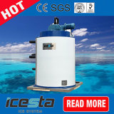 Wasserfischerei-abkühlendes Industrie-Meerwasser 4.5 Tonnen-Flocken-Eis-Maschine