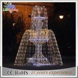 Straßen-Dekoration-Licht-im Freien Brunnen 3D des Weihnachtsmotiv-LED