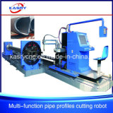 Cuadrado de acero económico y cortadora del plasma del CNC redondo del tubo/del tubo para el equipo de marina