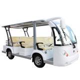 Autobus urbain électrique avec tablette 8 places dans le quartier résidentiel de haut de gamme