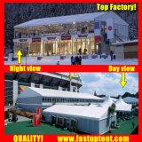 Large White Double Decker Marquee tenda para refeições ao ar livre